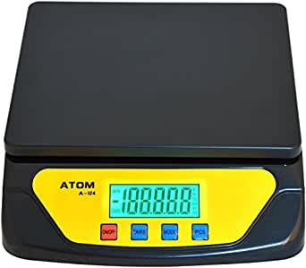 Atom A-124 A-124 Plastic Kitchen Weighing Scale, 25kg