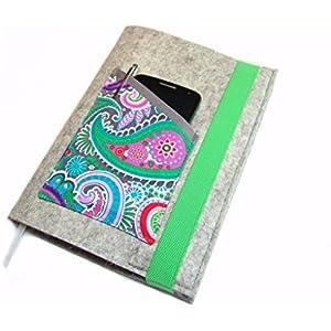 Kalenderhülle Hülle Einband Wollfilz Filz für Din A5 Buchkalender, Notizbuch