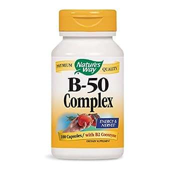 Nature's Way Vitamin B-50 Complex, Capsules, 100-Count