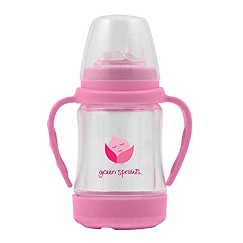 green sprouts Glass Sip'n Straw Cup (Pink)