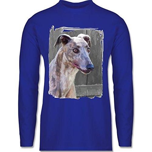 Shirtracer Hunde - Windhund - Herren Langarmshirt Royalblau