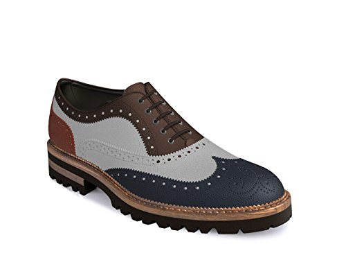 DIS Customized Schuhe - Oxford Flügel brgue - multicolor Herren Multicolor