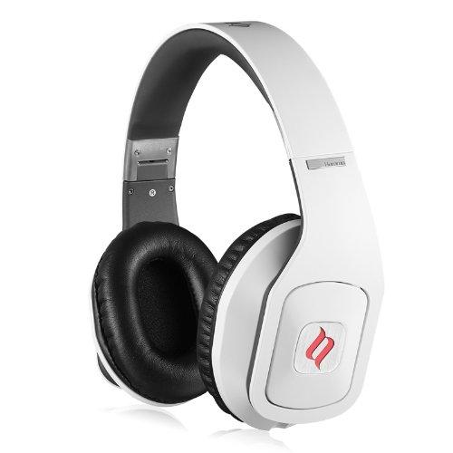 Noontec MF3118(W) Hammo Stereo Over-Ear-Kopfhörer mit Mikrofon und Funktionstaste weiß