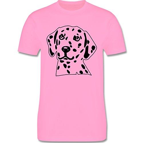 Hunde - Dalmatiner - Herren Premium T-Shirt Rosa