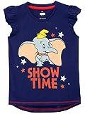 Disney Camiseta de Manga Corta para niñas Dumbo Azul 5-6 Años