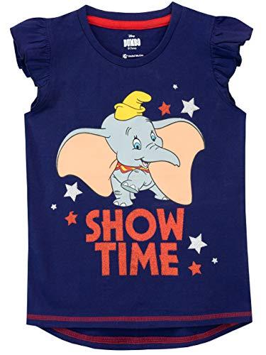Disney Camiseta de Manga Corta para niñas Dumbo Azul 6-7 Años