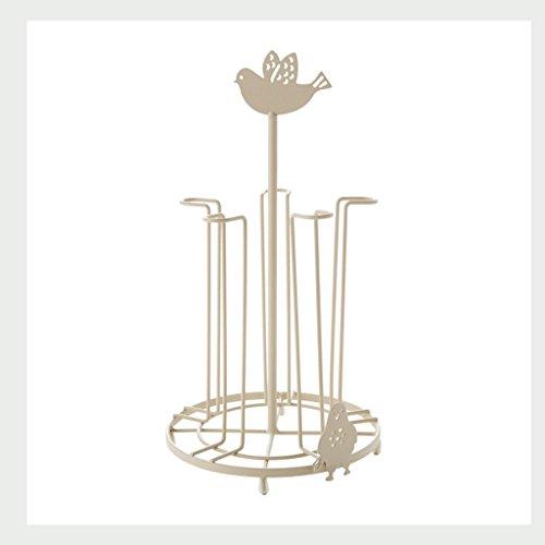 LUYIASI- Fashion Creative Simple Cup Rack Home Cuisine Étagères de Rangement Coffee Cups Porte-Théière Porte-Bagages en Métal Rack de Stockage Blanc Cup Rack