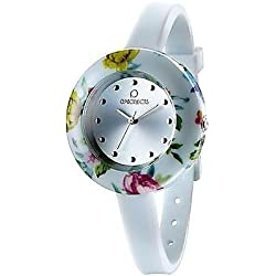 OPSOBJECTS · OPS!FLOWER WATCHES · Armbanduhr | Uhrarmband | Uhrband · rot pink gold