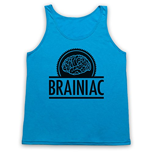Brainiac Hipster Tank-Top Weste Neon Blau