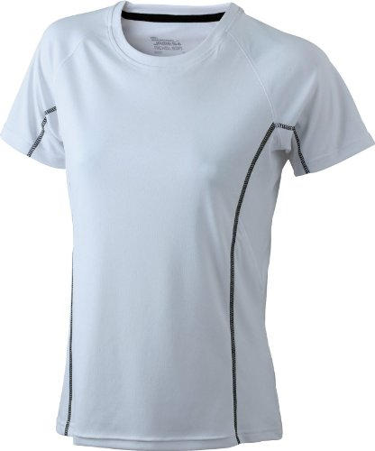 James & Nicholson Damen T-Shirt White/Black