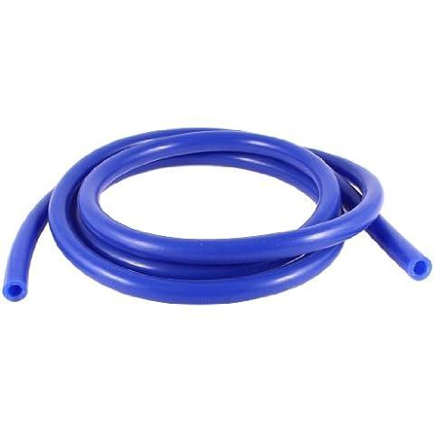 2 Metros Largo 7mm Interior Dia Silicona Coche Manguera Vacío Tubo Azul