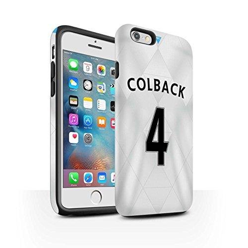 Offiziell Newcastle United FC Hülle / Matte Harten Stoßfest Case für Apple iPhone 6+/Plus 5.5 / Pack 29pcs Muster / NUFC Trikot Away 15/16 Kollektion Colback