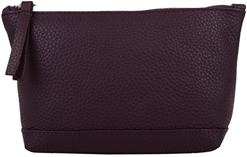 - 41VBbjyiNxL - SNUGRUGS Womens Genuine Soft Leather Make Up Case / Bag (Burgundy)