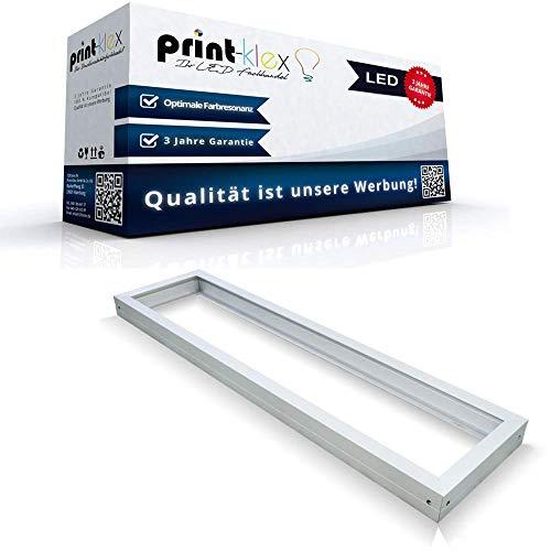 LED Panel Rahmen 120 x 30cm Deckeneinbaurahmen Deckenmontage Aufputz Weißerrahmen - Office Pro Serie