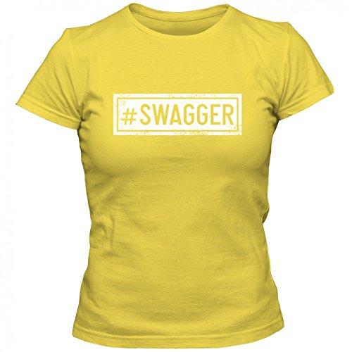 swagger Premium TShirt SprücheShirt hashtag statement Frauen Shirt © Shirt  Happenz Gelb Gold L191