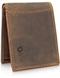 TALED® Premium Herren Geldbörse - Inklusive RFID-Schutz - Hochwertiger Geldbeutel aus Büffelleder im Vintage Look