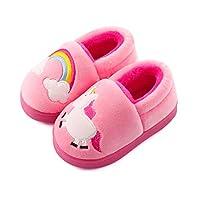 LACOFIA Boys Girls Winter Slippers Children Novelty Slipper Warm Plush Indoor Shoes for Toddlers/Kids