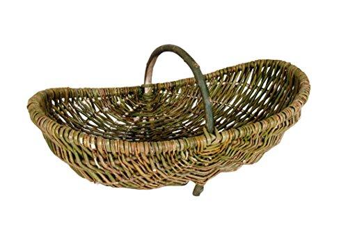 Kobolo Erntekorb Kartoffelkorb Weidenkorb Gartenkorb ungeschälte Weide 80 cm
