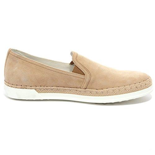 B1527 Slip On Woman Tods Rubber Rafia Pantofola Gamuza Beige Zapato Mujer Morena Desnuda