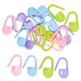20pcs Knitting Crochet Locking Loop Markers/Can Also Be Used as a Nappy Pin on A New Baby Greeting Card