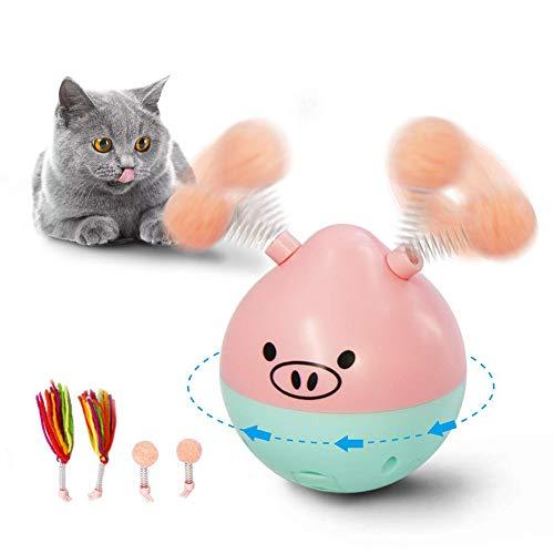 Milnnare Gatto Giocattolo Gioco di Tumbler con Pallina per Animali Domestici con Gioco interattivo a Rotazione Automatica elettrica