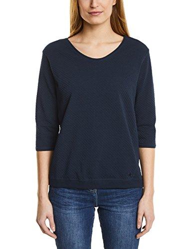 CECIL Damen Sweatshirt 311779 Malea, Blau (Deep Blue 10128), Small