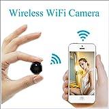 HONGHUIYU Mini WiFi IP-Kamera HD 1080p Infrarot-Nachtsicht Mikro-Netzwerk-Camcorder 150 ° Weitwinkel, Fernüberwachung, Alarm-prompt, App-Power-Display-Video-Stimme Auto DV für iPhone/Android CAM