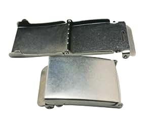 Amanaote Nickel couleur rectangulaires en métal-Boucle de Ceinture pour homme Ceinture accessoires (Pack de 5)