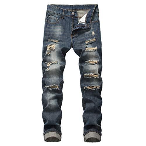T.boys Herren Jeans Hose Regular Slim Fit Jeanshose Stretch Denim Jeanshose für Männer | Coole Jungen Freizeithose Cargo Sommer Denim Drawstring Capris