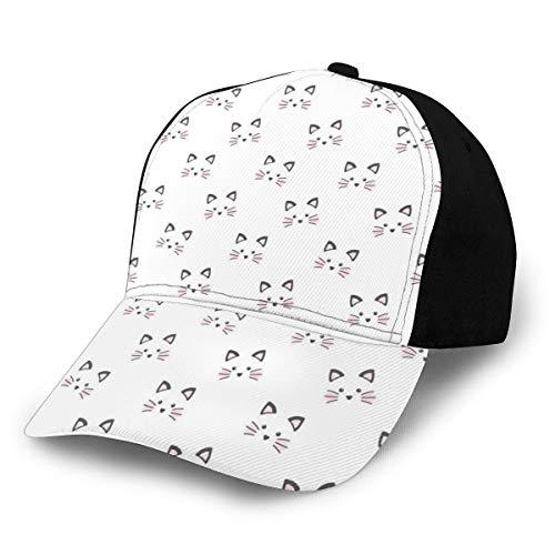 GULTMEE Baseballkappe Hip Hop Sonnenhut, Sketchy Bowling Pins Muster handgezeichnet Stil Monochrome Hobby Print für Herren und Damen, Multi color-15, Einheitsgröße