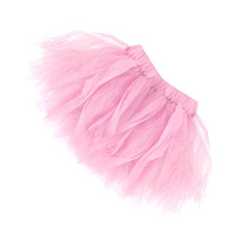 MagiDeal Vestito Abiti da Principessa Mini Tutu Balletto Danza Gonna per Bambini Ragazze e Adulti Donna Cerimonia Nuziale Rosa