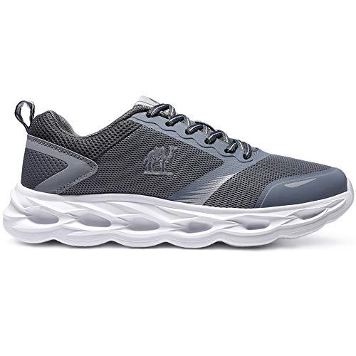 CAMEL CROWN Sportschuhe Herren Freizeit Mode Sneaker Laufschuhe Turnschuhe Leichte Bequeme Running für Männer Jungen Sport Gym Fitnessschuhe, Grau, 44 EU