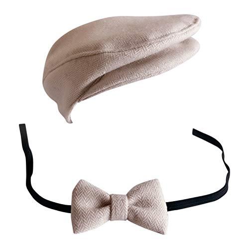 Gentleman Kostüm - De feuilles Neugeborene Baby Jungen Mädchen Fotografie Baby Jungen Mädchen Foto Kostüm Gentleman Hut Fliege Krawatte