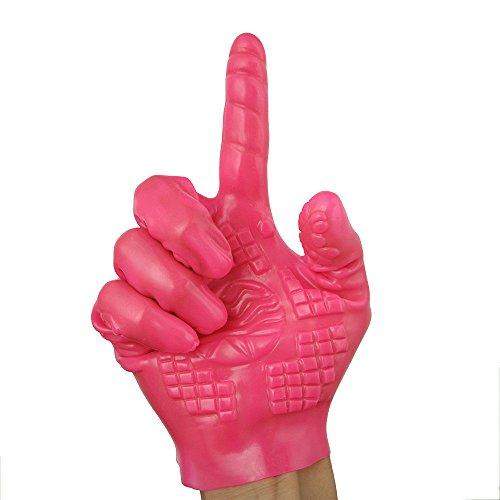 TUDUZ Magic Handschuhe Erotik Fingervibrator Spielzeug Für Frauen Und Männer Fingerüberzieher Anal G-Punkt Massage Sticks Spielzeug Massage Roller Handschuhe (Pink, B)