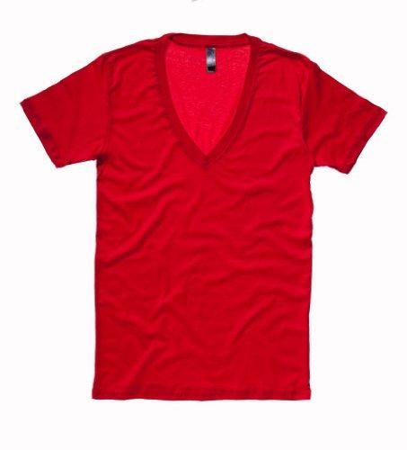Bella+Canvas Unisex T-Shirt mit tiefem V-Ausschnitt 3105 Red