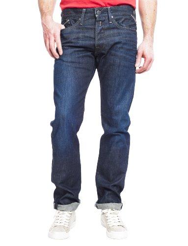 Replay Herren Straight Leg Jeanshose Waitom M983 Blau (Blue Denim)