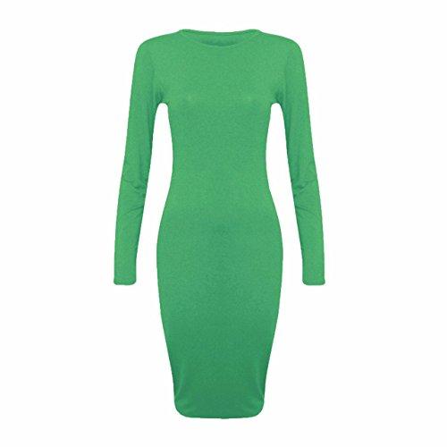 Sugerdiva Damen Blusen Kleid Grün