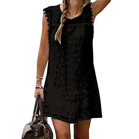 La Taille Des Robes Dété - des femmes Lady dentelle noir robe sans