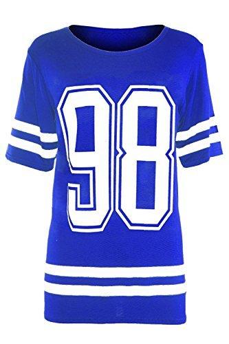 Blue Womens Dress Royal Shirt (Be Jealous Damen T-Shirt 98 Print Royal Blue - Basketball Date Evening)