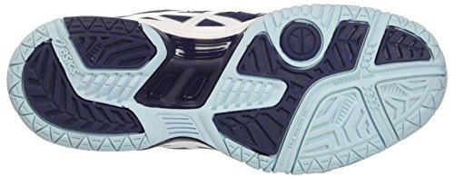 Asics Damen Gel-Dedicate 4 Tennisschuhe Multicolore (Indigo Blue/White/Crystal Blue)