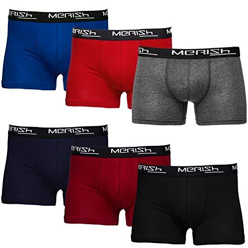 MERISH Boxershorts Men Herren 6er Pack Unterwäsche Unterhosen Männer 406 (XL, 406d 6er Set Mehrfarbig)