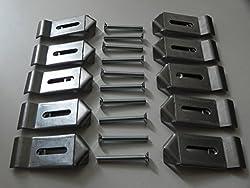 10 Stück Gehörnklammern Montageklammern für Rehgeweihe