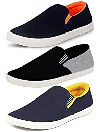 Ethics Perfect Combo Pack of 3 Stylish Premium Loafer Shoes for Men