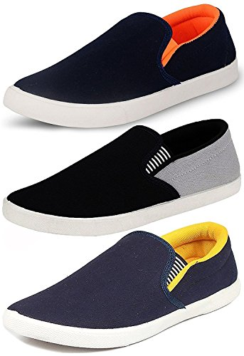 Ethics Perfect Combo Pack of 3 Stylish Premium Loafer Shoes for Men...