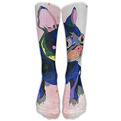 French Bulldog Kniestrümpfe für Damen und Herren – Beste medizinische Socken für Stillen, Reisen und Flugreisen – Laufen und Fitness