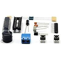 Gorgebuy Reloj DIY Kit electrónico- 51 Reloj Digital de 4 dígitos Kit de electrónica para