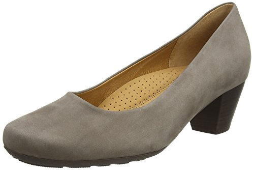 Gabor brambling N, Damen Pumps, Grau (Grey Nubuck Oil), 37 EU (4 UK)