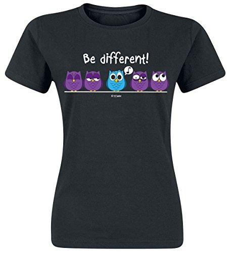Be Different Girl-Shirt Schwarz Schwarz