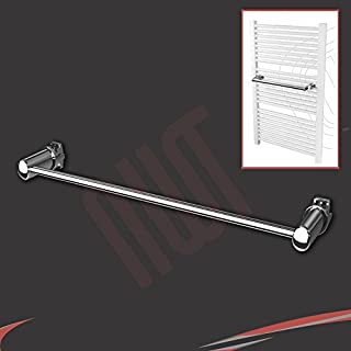 Chrome Straight Towel Bar (450mm Wide) - Fix Directly to your Heated Towel Rail, Warmer