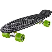 Ridge Big Brother Cruiser - Skateboard, color negro / verde, 69 cm
